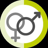 Männer und Frauen im Chat